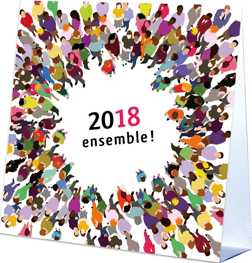 Fabulous Cartes de vœux 2017 calendrier - Voeux-solidaires.com JI38