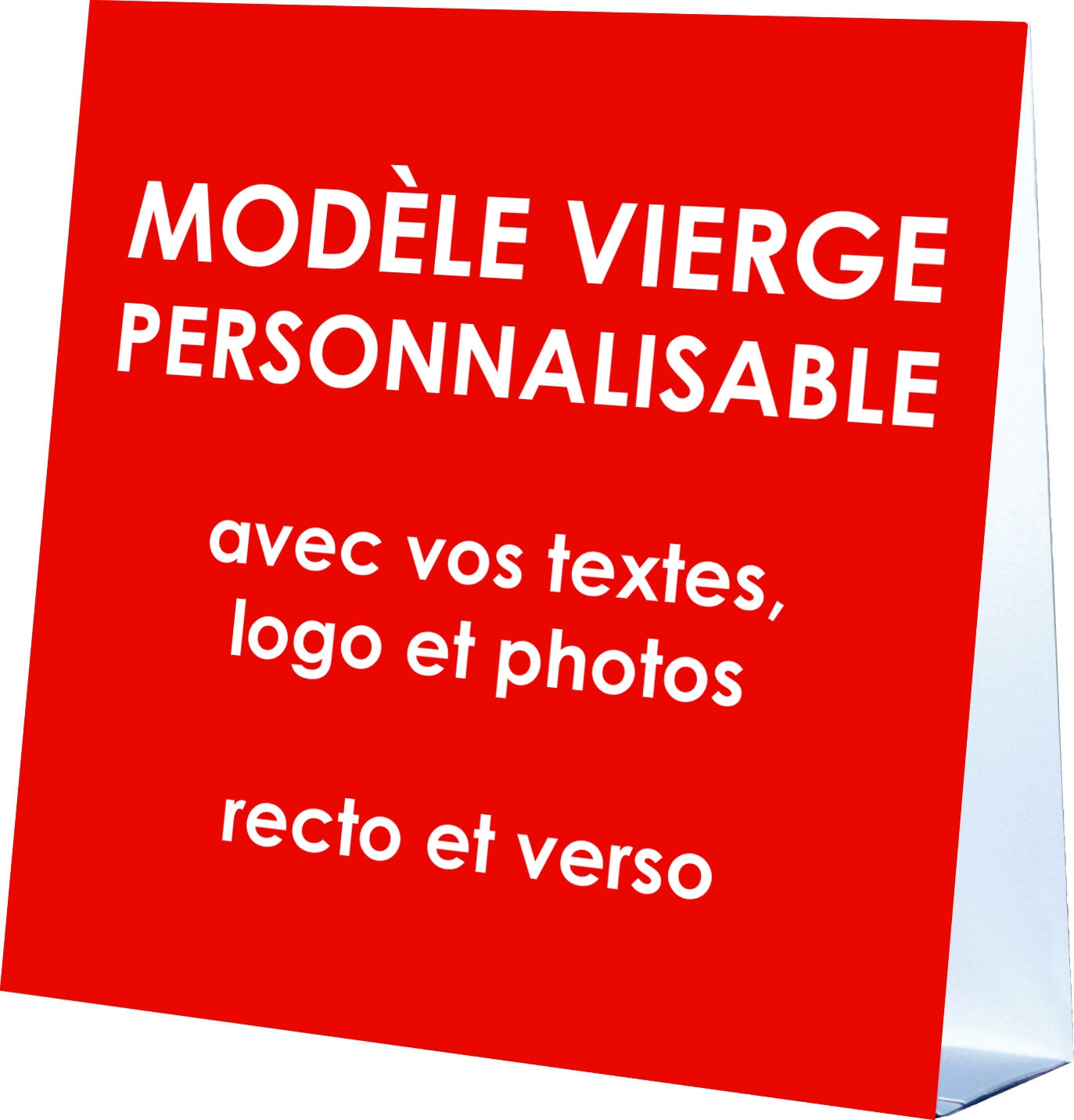 CARTE CALENDRIER CHEVALET PERSONNALISABLE format 14 x 14 cm