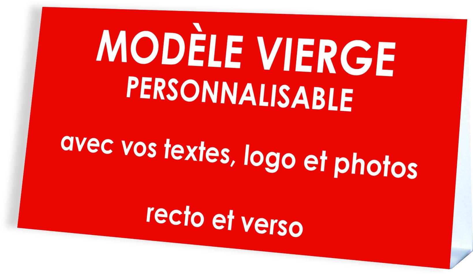 CARTE CALENDRIER CHEVALET PERSONNALISABLE format 10,5 x 21 cm