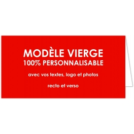 CARTE 100% PERSONNALISABLE format 10,5 x 21 cm